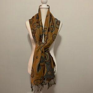 Pashmina silk blend printed shawl scarf